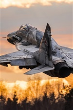 Preview iPhone wallpaper MiG-29SM multipurpose fighter take off
