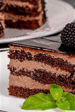 Preview iPhone wallpaper One piece chocolate cake, blackberry
