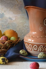 Preview iPhone wallpaper Pears, eggs, lemon, kettle, still life