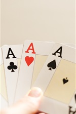 Preview iPhone wallpaper Playing cards, A
