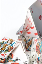 Preview iPhone wallpaper Poker cards, struct, white background