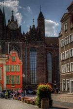 미리보기 iPhone 배경 화면 폴란드, 그단스크, 도시, 거리, 사람들