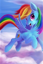 Preview iPhone wallpaper Rainbow Dash, My Little Pony: Friendship is Magic