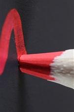Red pencil, blackboard