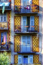 Preview iPhone wallpaper Sospel, France, balcony, houses