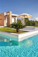 Preview iPhone wallpaper Spain, Ibiza, villa, pool