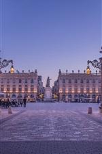 Preview iPhone wallpaper Stanislas Square, dusk, Nancy, France