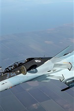 Preview iPhone wallpaper Su-30CM fighter, air refueling