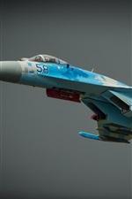 Preview iPhone wallpaper Sukhoi Su-27 combat aircraft