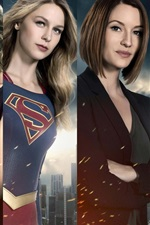 Preview iPhone wallpaper Supergirl, TV series, actors