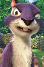Preview iPhone wallpaper The Nut Job 2, cartoon movie