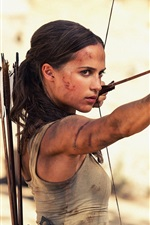 Preview iPhone wallpaper Tomb Raider 2018 movie, Lara Croft