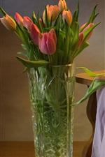 Tulips, toy bird, still life