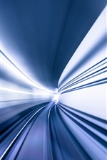 Preview iPhone wallpaper Tunnel, speed, light