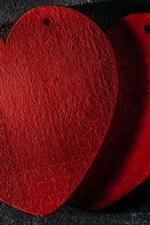 Dois, vermelho, ame corações