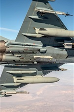 Preview iPhone wallpaper Typhoon multi-role fighter, sky, flight