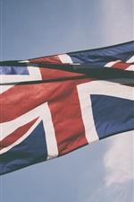미리보기 iPhone 배경 화면 영국 국기, 하늘