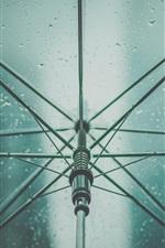 Umbrella, rain, water drops