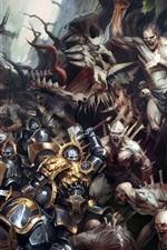 Preview iPhone wallpaper Warhammer 40000, battle, warriors