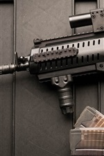 Preview iPhone wallpaper Weapons, Beretta assault rifle, bullets