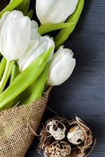 Preview iPhone wallpaper White tulips, eggs