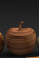 Frutas de madeira, obras de arte