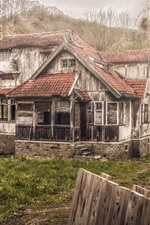 Preview iPhone wallpaper Wooden house, villa, forest