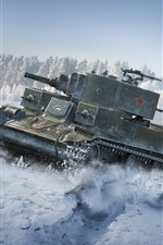 Preview iPhone wallpaper World of Tanks, Soviet T-29 tank