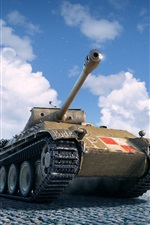 Preview iPhone wallpaper World of Tanks, square, clouds
