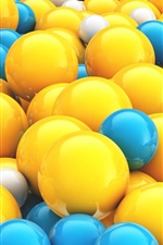 Preview iPhone wallpaper Yellow and blue 3D balls