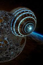 Aperçu iPhone fond d'écranPhoto d'art 3D, espace, Terre, planète