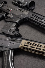 Preview iPhone wallpaper AR-15 assault rifle, weapons