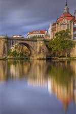 Preview iPhone wallpaper Amarante, Portugal, river, bridge, houses