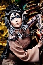 iPhone fondos de pantalla Chica asiática, estilo retro, maquillaje