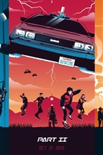 Preview iPhone wallpaper Back to the Future, trilogy, art picture