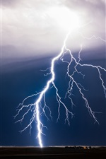 Preview iPhone wallpaper Bad weather, lightning, storm