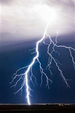 미리보기 iPhone 배경 화면 나쁜 날씨, 번개, 폭풍