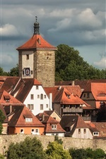 Preview iPhone wallpaper Bayern, Germany, Middle Franconia, houses