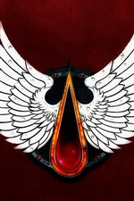 Preview iPhone wallpaper Blood Angels, Warhammer 40000, wings