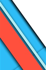 Preview iPhone wallpaper Blue and red lines, layers
