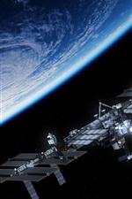 Planeta azul, satélite, estação espacial