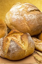 Preview iPhone wallpaper Bread, food, wheat spikelets