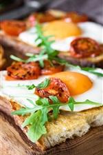 Preview iPhone wallpaper Breakfast, sandwiches, omelette egg