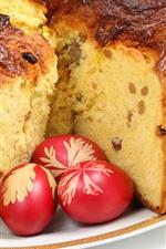 Cake, eggs, food