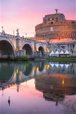 Vorschau des iPhone Hintergrundbilder Stadt, Brücke, Fluss, Gebäude