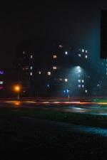 Preview iPhone wallpaper City, night, lights, illumination