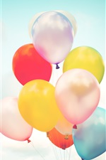 Preview iPhone wallpaper Colorful balloons, sky