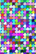Preview iPhone wallpaper Colorful squares texture background