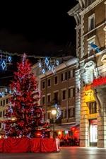 Croácia, rijeka, ano novo, luzes, noturna, cidade