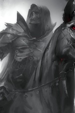Preview iPhone wallpaper Dark Soul, black horse, knight, horror